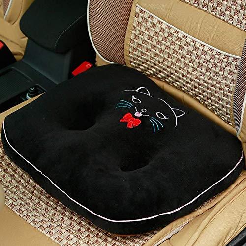 SXFYZCY Sitzkissen für das Autofahren Auto Sitzkissen für Home Office Reiserollstühle Linderung von Ischialschmerzen,Black,42x38x12cm