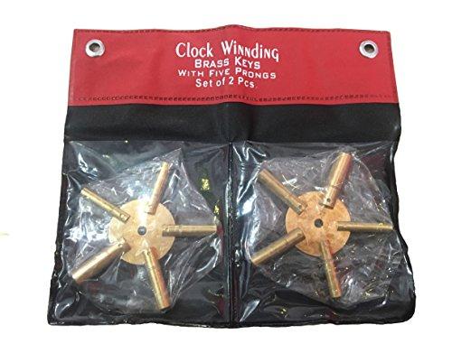 BRASS BLESSING Messing Segen Universal 5Zinken Messing Uhr Schlüssel für Uhren, ODD und auch Zahlen mit Cover von (5192)