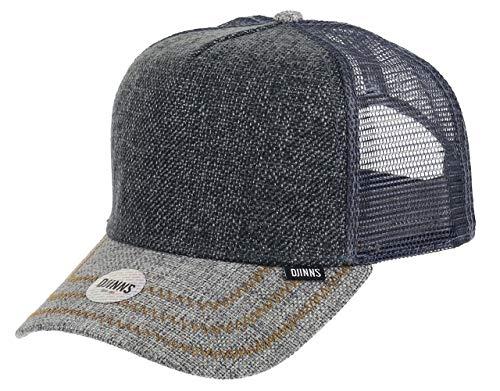 Djinns Jute Mix (grey) - Trucker Cap Meshcap Hat Kappe Mütze Caps