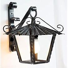 Lanterna in ferro battuto modello RUSTICO quadrato