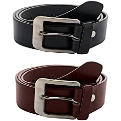 Zacharias Men's Combo of 2 Belts Black & Brown