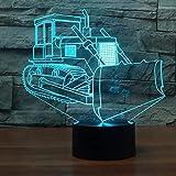 Led 3D Bulldozer Modellierung Tischlampe Indoor Schlaf Nachtlicht 7 Farben Ändern Visuelle Leuchte Luminaria Weihnachtsgeschenke Dekor
