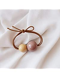 RONSHIN Women Delicate Cute Color Matching Ball Hair Band Rope