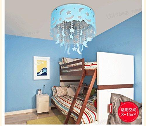 Blauer Mond und die Sterne der Kinder im Zimmer Kristall Decke Jungen und M?dchen Schlafzimmer Kronleuchter Beleuchtung leben LED-Lampen