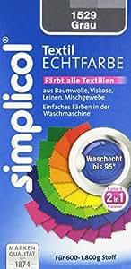 Simplicol 1529 Textil-Echtfarbe, flüssig, Grau, 150 ml