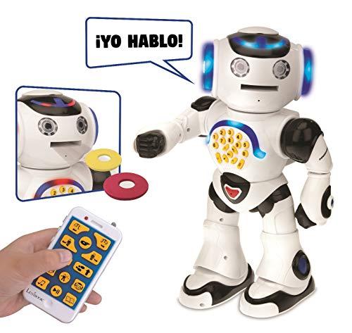 LEXIBOOK Powerman: el Robot Educativo Inteligente para Jugar y Aprender, Baila, Canta, Cuenta Chistes, Mando a distanc, Color Blanco (ROB50ES)