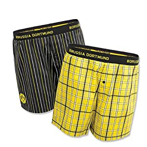 BVB 09 Borussia Dortmund Boxershort 2er-Pack Gr. M Baumwolle