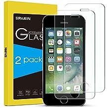 [2-Pack] Cristal templado iPhone 5S Protector Pantalla iPhone 5s,SPARIN Cristal Templado iPhone SE/5S/5C/5,Vidrio Templado con [Alta Dureza][Alta Transparencia][Sin Burbujas]