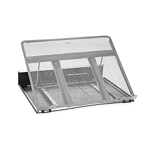 Rolodex Mesh Two Tone Laptop Stand - Black/Silver