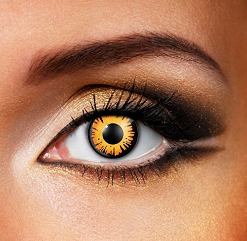 Funky Vision Kontaktlinsen - 12 Monatslinsen, Twilight Bella, Ohne Sehstärke, 1 Stück