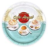 Lashuma Designertablett rund aus Melamin | Design: Café Royal | Ø 32 cm