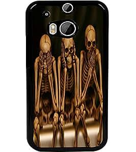 ColourCraft Funny Skeletons Design Back Case Cover for HTC ONE M8