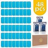 Migaven 48PCS EMS Gel Pad, Électrodes Remplacement de Gel Feuille de Gel de Rechange de Formateur EMS pour...