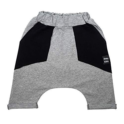 3fnky kids Jogger Shorts Hose für Jungen und Mädchen 2-8 Jahre - Black Pockets (2-4 Jahre, Light Grey) - Mädchen Terry Shorts