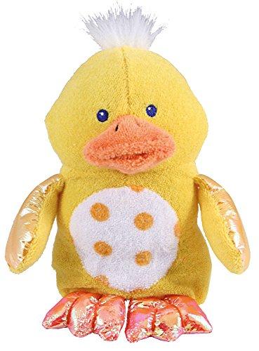 Munchkin Bath Critter Baby Bade Plüschtier Badeschwamm mit Quietscher Ente