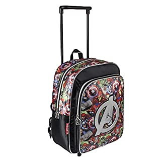 Avengers Mochila trolley 3D Iron Man Negro