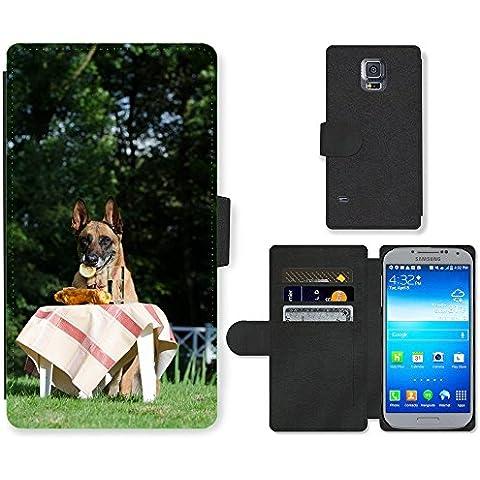 GoGoMobile, cellulare, carte, Custodia a portafoglio in similpelle e M00124568 Malinois belga Picnic pastore tedesco (Designer Di Accessori Per Picnic)