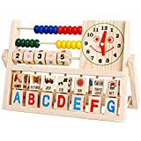 Education Toy,Fortan Children Baby Kids Learning Developmental Versatile Flap Abacus Wooden Toys
