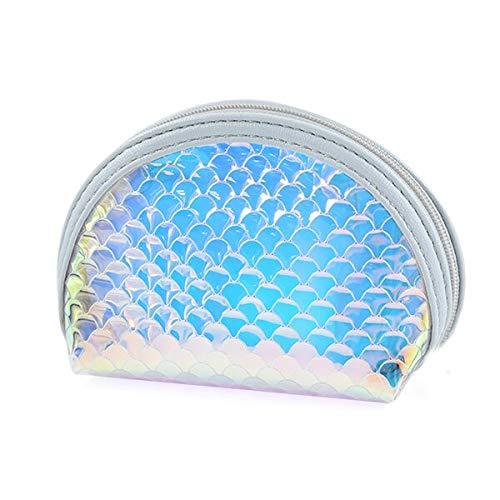 Fecilia Geldbörse mit Fischschuppen, Laserreißverschluss, Münz-Kollektion, kleine Handtasche Abendtasche Clutch -