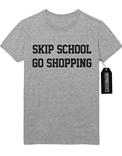 T-Shirt SKIP SCHOOL GO SHOPPING F959496 Grau