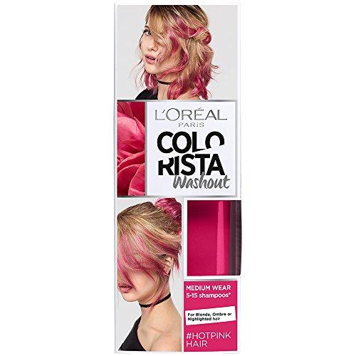 L'Oreal Paris Colorista Coloración  Temporal Tono Washout Hot Pink Hair, 80 ml