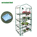 Heresell - Telo in PVC per mini serra a 4 ripiani per piante, senza telaio in ferro, Green, B