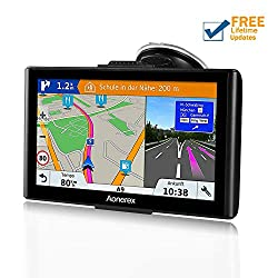 Sat Nav GPS Navigation System, 7-Inch HD Touch Screen&Built-in 8GM-256MB Navigator System for car Navigation with UK&EU 2019 Maps Lifetime Free Updates