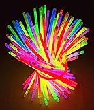 Knicklichter Leuchtstäbe 100 Stücke mit Verbinder Farbmix über 10 Stunden Leuchtdauer für Hochzeiten Partys Geburtstage Festival