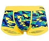 Drawihi Bañador para Hombre de Algodón para Hombre Pantalones Cortos Ropa Interior Hombres(Camuflaje amarillo)