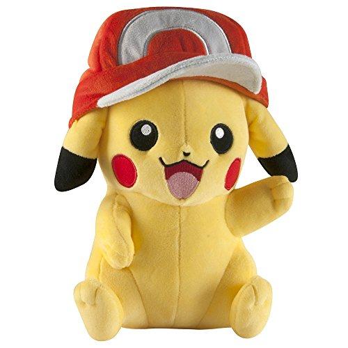 Pikachu de peluche con gorro de Ash, de Pokémon