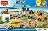 #10: Babytintin™ Cogo City Garage Car Repair Building Block Brick Toy Block Set For Kids 609 pcs