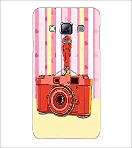 PrintDhaba Camera D-3908 Back Case Cover for SAMSUNG GALAXY A3 (Multi-Coloured)