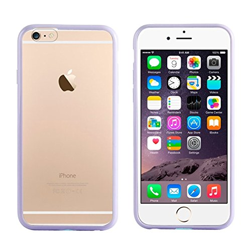 GHC Cases & Covers, TPU Stoßfänger + Kunststoff zurück Fall für iPhone 6 Plus & 6S Plus ( Color : Purple ) (Iphone 5c Fällen Wie Speck)