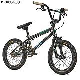 """KHE - Bicicletta BMX Lenny SE, 16"""", Solo 9,8 kg, Colore: Nero"""