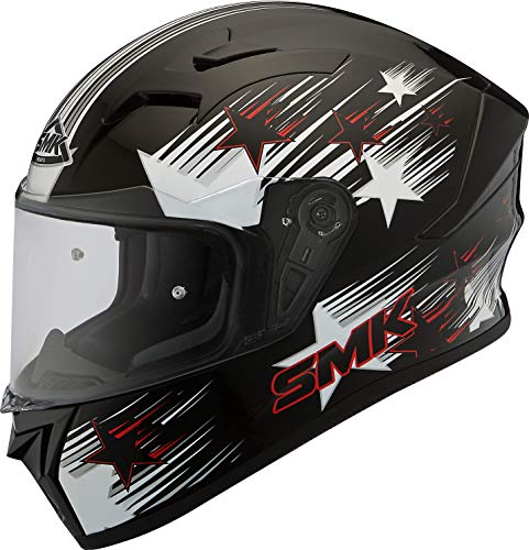 SMK Helmets RainStar Graphics Pinlock Fitted Full Face Helmet with Clear Visor for Men (Medium,Multicolour)