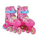 Byox Inliner Kinder Mask rosa Größe S 30-33 verstellbar, PU, ABEC-7 Lager Bremse