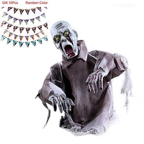 Halloween Dekoration,Körper schwingt Geist,Spukhaus Gruseliger Zombie für Karneval Party,Geister Festival,Horror-Themenleiste