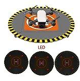Hensych RC Drone LED Landing Pad pour DJI Spark DJI Mavic Pro Syma Hubsan Drone avec sac portable