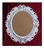 Lnxp BILDERRAHMEN Antik Barock in der Farbe: Silber 45x38 cm Oval REPRO Bilder für 28x22 cm Oder 22x28 cm BAROCKRAHMEN Bilder DEKO