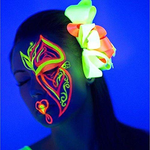 Upxiang Körper Make-up Paints, Luminous Leuchtende Farbe, Phosphoreszierende Glühen in der Dunkelheit, Glow In Dark Bright Pigment, Body Art DIY Party Dekoration (Professionelle Dekoration Halloween)