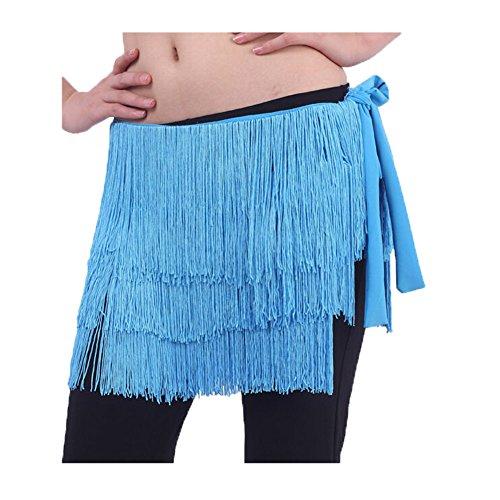 Belly Dance Scarf Hip Belle Glands Costume lac bleu