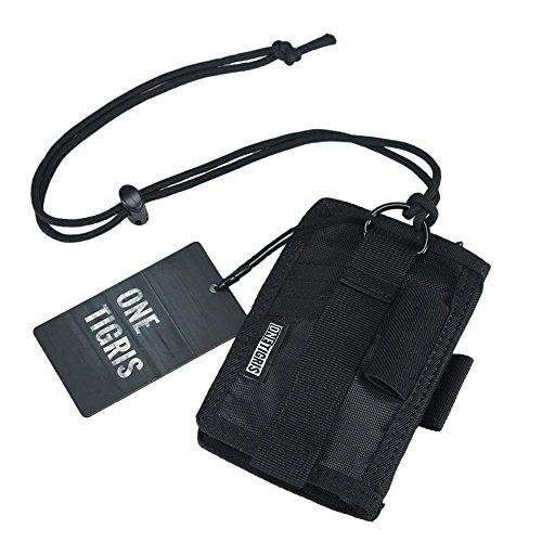 ID Halter, Kreditkarte Organizer Umhängeband Schlüsselanhänger Brieftasche Tactical Badge Holder, Schwarz ()