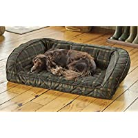 Orvis Memory Foam Bolster Dog Bed / Medium Dogs Up To 40-60 Lbs., Orvis Tartan