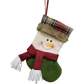 Crazy-Store Christmas Stockings Gift Bag Candy Bag Xmas Tree Decorative Sock (Green) Christmas