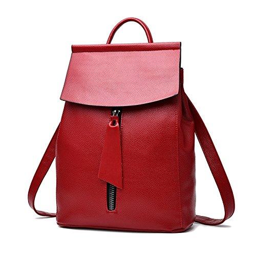 Handtasche Frühling neue Handtasche Rucksack koreanischer Mode Leder Rucksack Schule Mädchen Wind b