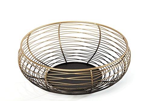 HEITMANN DECO 7501 Coque en métal, métal, doré/Noir, 24,5 x 24,5 x 9 cm