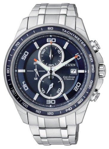 Citizen CA0345-51L - Reloj cronógrafo de cuarzo para hombre, correa de titanio