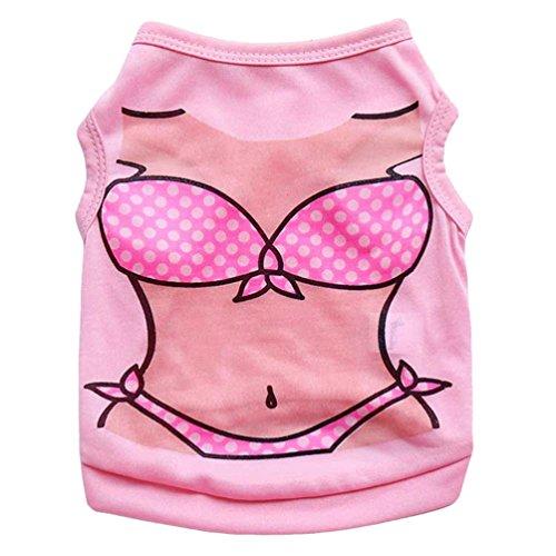 YiJee Atmungsaktiv Haustier Weste Kleidung für Hund Bikini Drucken Hündchen T-shirt Sommer Als Bild3 M