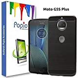 #3: POPIO™ Motoroala Moto g5s Plus Back Cover Case Slim Rugged Shock Proof Bumper Armor Back Cover Case (Carbon Black)