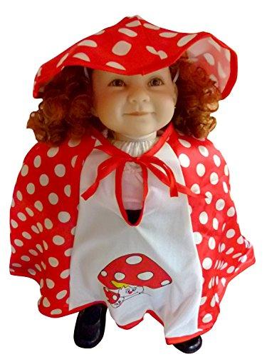 An61/00 Gr. Fliegenpilz Kostüm für Fasching und Karneval, Kostüme für Baby Babies Kleinkinder, Faschingskostüm, Karnevalkostüm